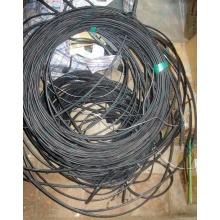 Оптический кабель Б/У для внешней прокладки (с металлическим тросом) в Керчи, оптокабель БУ (Керчь)