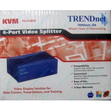 Видеосплиттер TRENDnet KVM TK-V400S (4-Port) в Керчи, разветвитель видеосигнала TRENDnet KVM TK-V400S (Керчь)