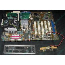 Материнская плата Asus P4PE (FireWire) с процессором Intel Pentium-4 2.4GHz s.478 и памятью 768Mb DDR1 Б/У (Керчь)